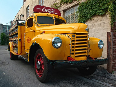 Antique Coca Cola Delivery Truck Columbus Indiana
