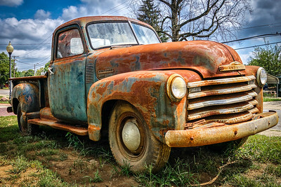 Rusty 1950 Chevy Truck
