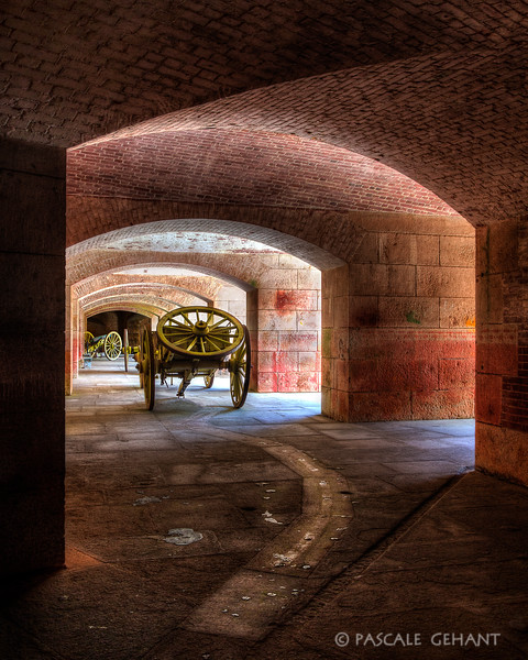 Cannon carriage- Fort Point
