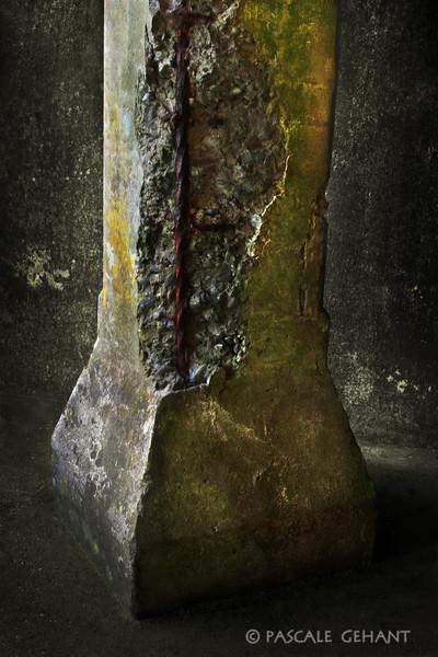 Worn pillar detail