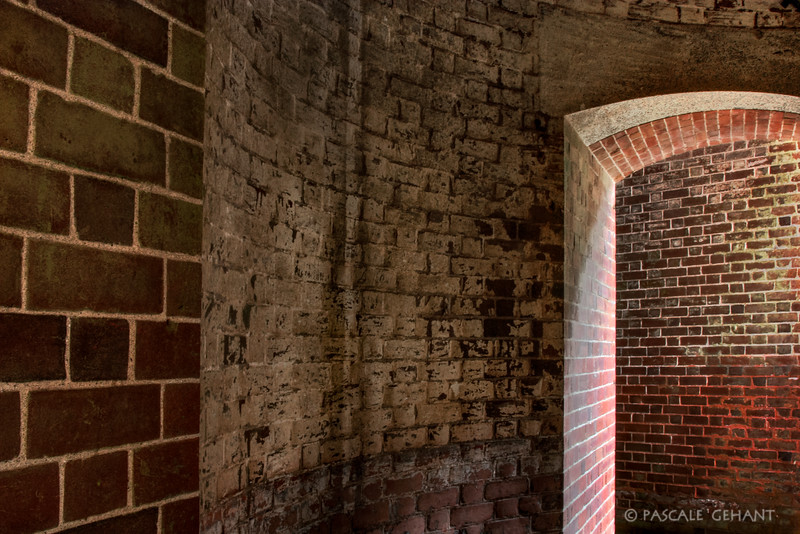 Arch with brick wall