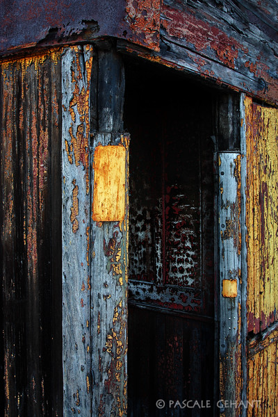 Old painted boxcar