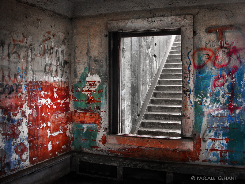 Window into stairs- Mendell Battery