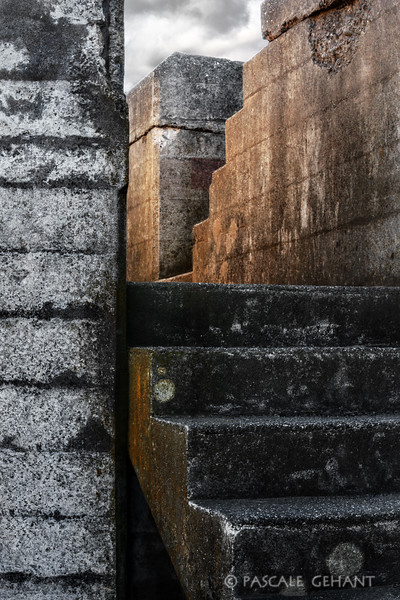 Concrete stairs- Boutelle Battery