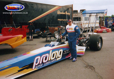 Canadian drag racing legend Gordie Bonin's Prolong Top Fuel Paint and Vinyl Job