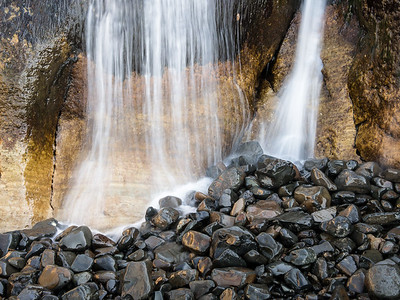 Waterfall on Black Rocks