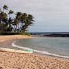 Peaceful beach before a Luau.