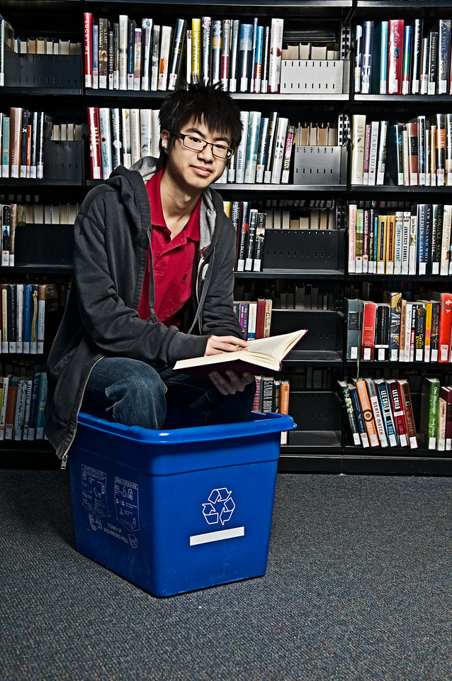 """It doesn't take literature to know how to save the environment""  Shot for the 2011 YRDSB Skills Competition under the theme of ""environmental awareness"""