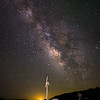 Milky Way over the site of the old Railroad Station in Kearsarge.