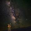 Milky Way over Manzanar Guard Tower.