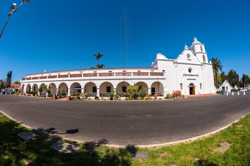 Wide shot of Mission San Luis Rey