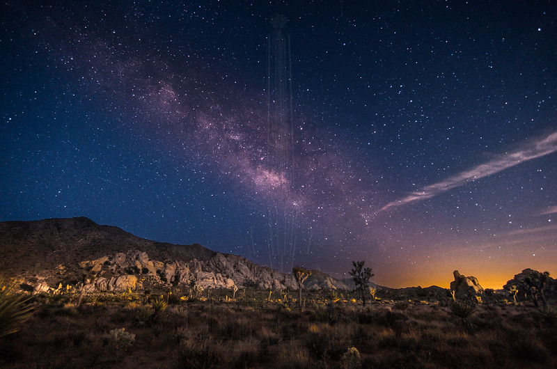 The Milky Way starts to appear.