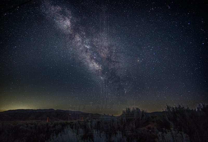 The Milky Way just after sunset.
