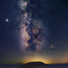 Amboy Crater and Milky Way