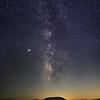 Amboy Crater and Milky Way - Pano