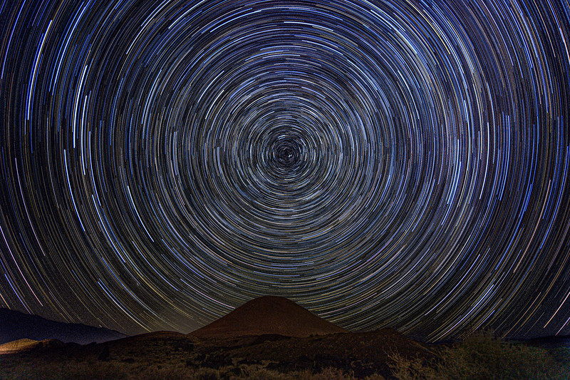 Star Trail at Fossil Falls