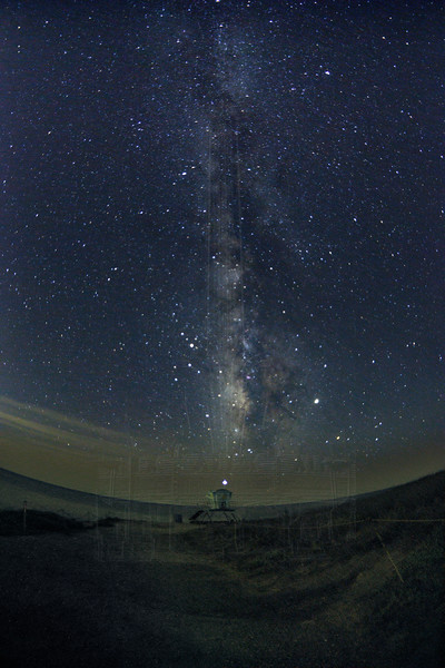 Milky Way Over Lifeguard Station.