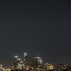 The conjunction over downtown LA.