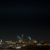 Landscape shot of the conjunction over downtown LA.
