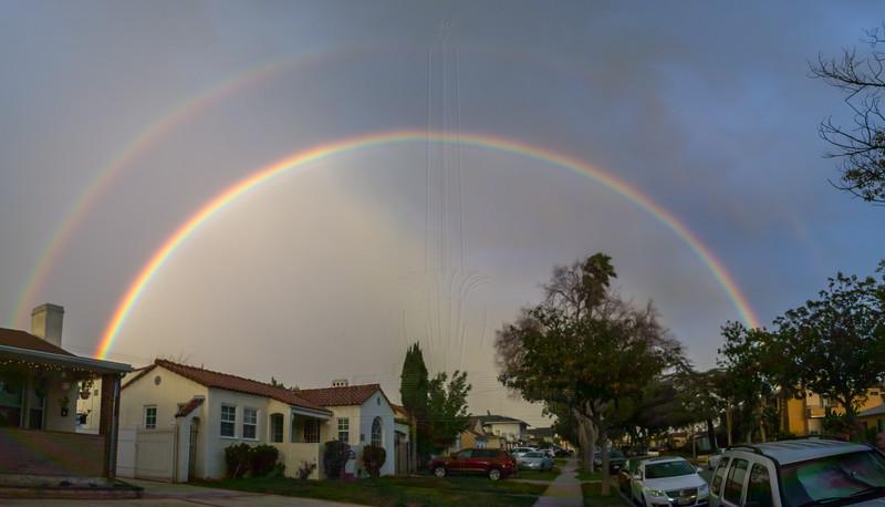 Double Rainbow in Glendale.