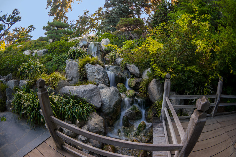 Waterfall in the Japanese Garden.