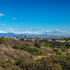The panorama shows how big the LA basin is, from Josephine Peak on the left to the Chino Hills on the right.