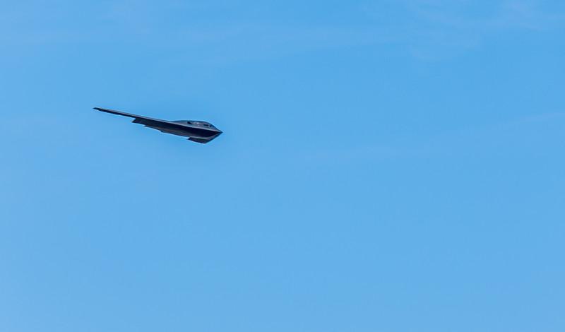 B-2 approaching the Rose Bowl
