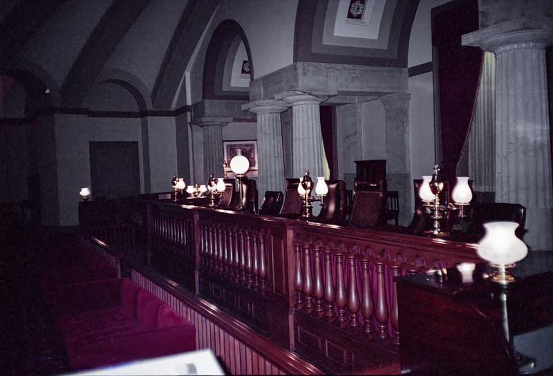 The Old Supreme Court Chamber in the original portion of the Capitol.   The first telegraph message was sent from this room.