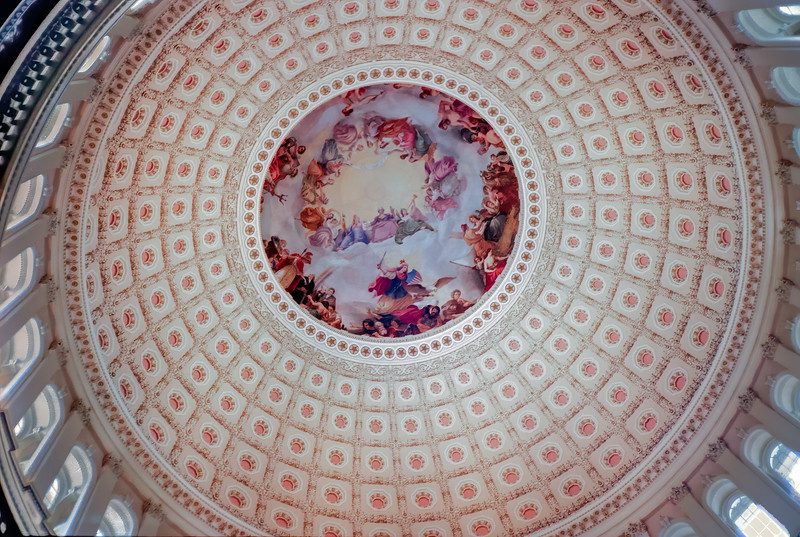 View of the Capitol dome from the Rotunda.