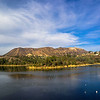 Visual shot of the Hollywood Sign and it's surroundings reflected in Lake Hollywood.