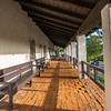 Front porch of Mission San Diego.