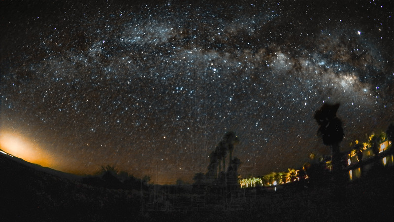 The Milky Way from Zzyzx(fisheye).