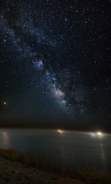 Milky Way with long exposure foreground.