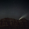 NEOWISE setting behind the red cliffs