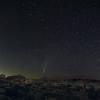 NEOWISE setting behind Jumbo Rocks