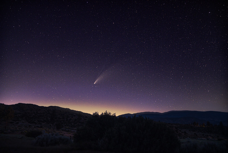 Comet NEOWISE over the Lockwood Valley.