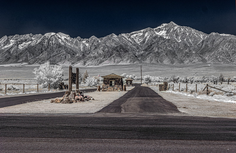 Traditional Entrance and Mt. Williamson(IR).