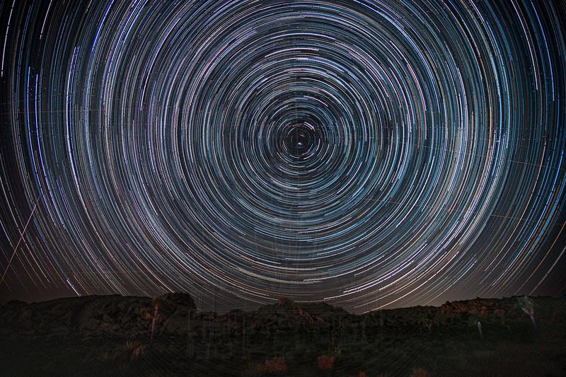Star Trail centered on Polaris.