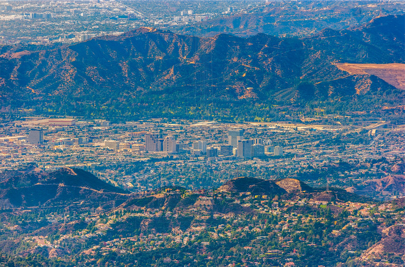 Downtown Glendale from Mt. Lowe