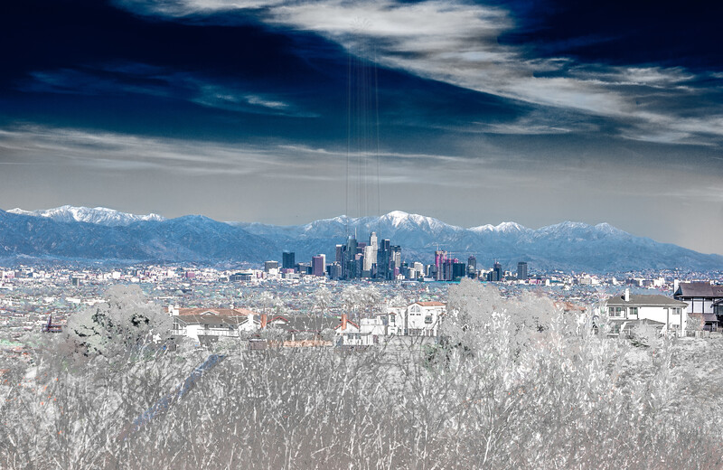 Downtown Los Angeles and Mt. San Antonio(IR)