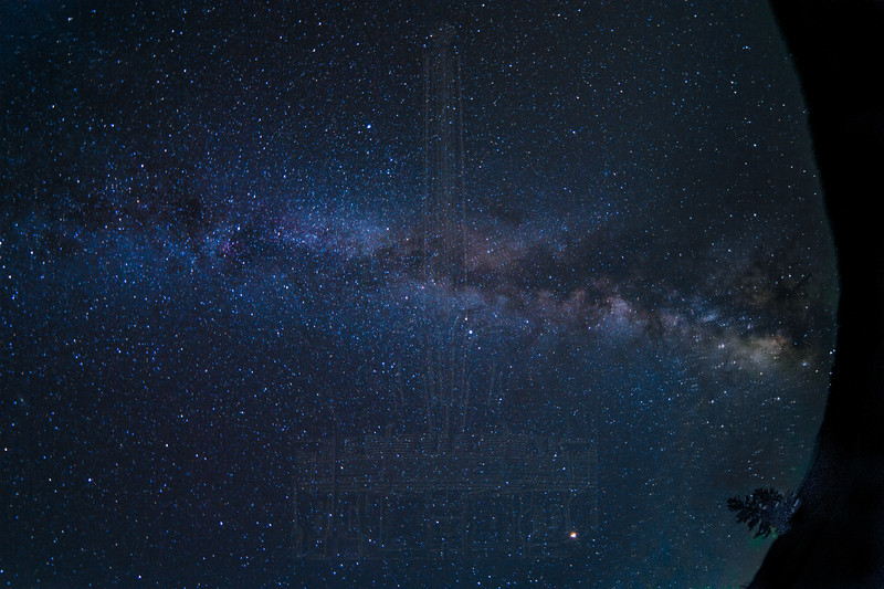 Milky Way in Lockwood Valley(fisheye)