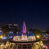 Los Angeles City Hall from Grand Park.