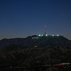 Hollywood Sign after dark.