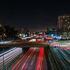 Traffic light trace in Downtown LA.