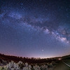 Milky Way at the Boy Scout Camp Road(fisheye)