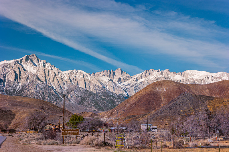 Mt. Whitney from Lone Pine.
