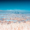 Downtown Los Angeles and the San Gabriels(IR).