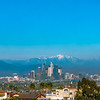 Downtown Los Angeles and the San Gabriels.