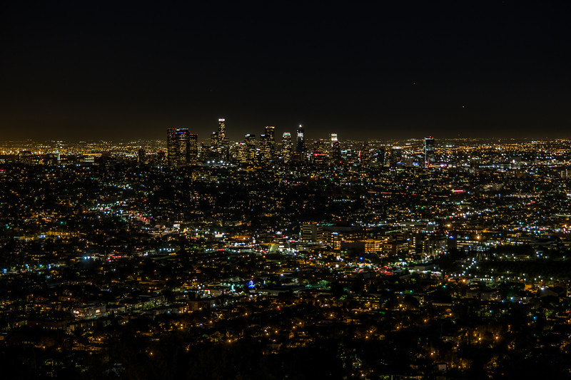 Downtown Los Angeles from Griffith Observatory.