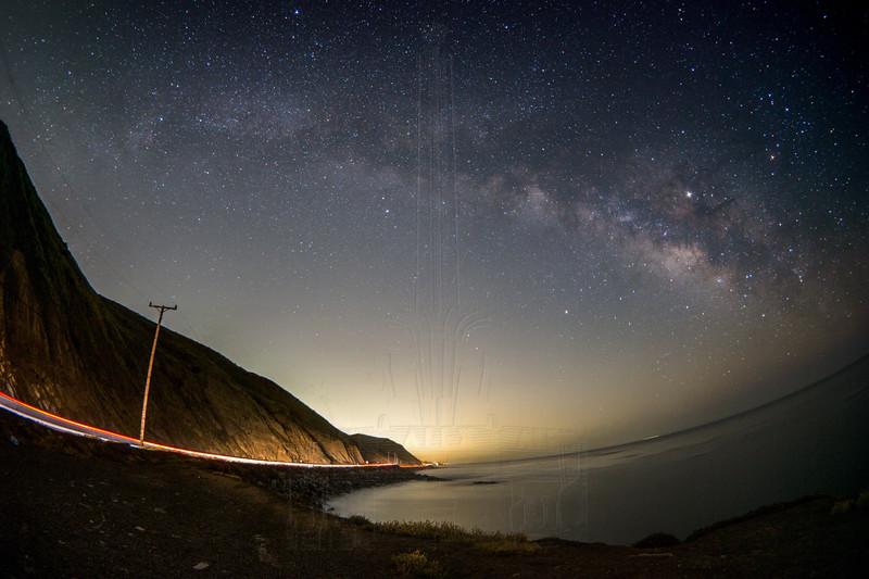 Milky Way at Twin Bush.(fisheye)